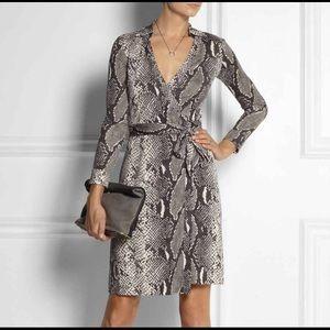 DVF snakeskin wrap dress